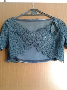 COMPLETO VINTAGE BLU IN PIZZO